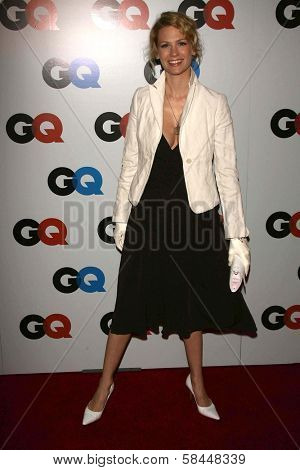 LOS ANGELES - NOVEMBER 29: January Jones at the GQ Man of the Year Awards at Sunset Tower Hotel November 29, 2006 in Los Angeles, CA.