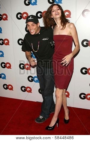 LOS ANGELES - NOVEMBER 29: Steve-O and guest at the GQ Man of the Year Awards at Sunset Tower Hotel November 29, 2006 in Los Angeles, CA.