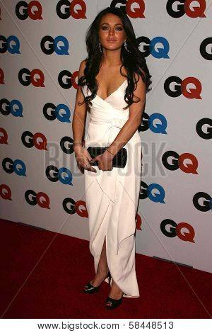 LOS ANGELES - NOVEMBER 29: Lindsay Lohan at the GQ Man of the Year Awards at Sunset Tower Hotel November 29, 2006 in Los Angeles, CA.
