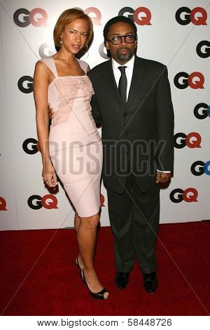 LOS ANGELES - NOVEMBER 29: Tonya Lewis Lee and Spike Lee at the GQ Man of the Year Awards at Sunset Tower Hotel November 29, 2006 in Los Angeles, CA.