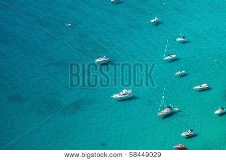 Mediterranean Resort Calpe Spain with lagoon Las Salinas and Hotel Buildings