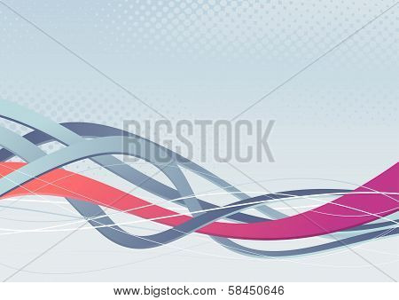 Abstract Background With Waves And Swooshes