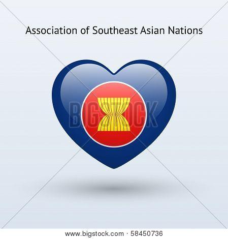 Love Association of Southeast Asian Nations symbol.
