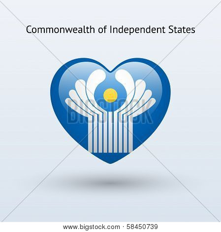 Love Commonwealth of Independent States symbol.