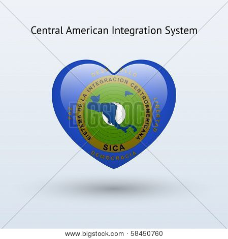 Love Central American Integration System symbol.