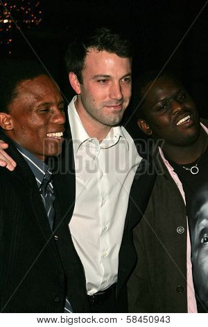 LOS ANGELES - NOVEMBER 15:  Ben Affleck and Archie Khambula and Victor Mohale at the Los Angeles Premiere of