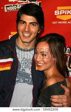 Brandon Routh and guest at Spike TV's 2006 Video Game Awards. The Galen Center, Los Angeles, California. December 8, 2006.