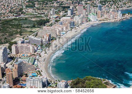 Coastline of Mediterranean Resort Calpe Spain with Sea and Lake
