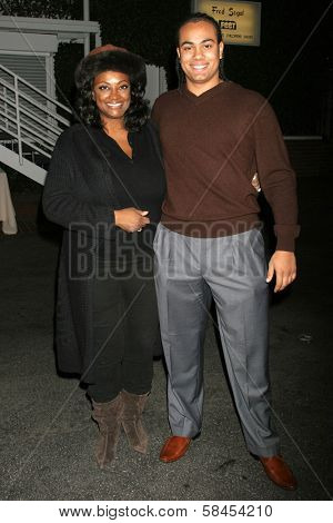 BEVERLY HILLS - DECEMBER 06: James Francis Kelly and his mother Sharon at the Calabasas 2 Year Anniversary Party on December 6, 2006 at Fred Segal Mauro's Cafe in Beverly Hills, CA.