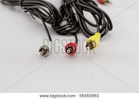 Three Rca Cable And Plug