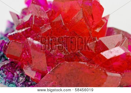 Close Up Of Crystals In Ruby Color