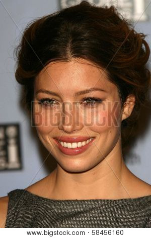 BEVERLY HILLS - DECEMBER 14: Jessica Biel at the Nomination Announcement For The 64th Annual Golden Globe Awards on December 14, 2006 at Beverly Hilton in Beverly Hills, CA.