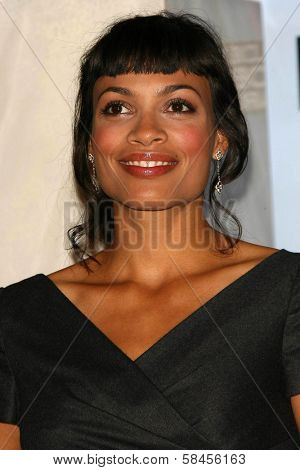 BEVERLY HILLS - DECEMBER 14: Rosario Dawson at the Nomination Announcement For The 64th Annual Golden Globe Awards on December 14, 2006 at Beverly Hilton in Beverly Hills, CA.