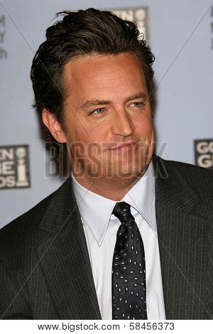 BEVERLY HILLS - DECEMBER 14: Matthew Perry at the Nomination Announcement For The 64th Annual Golden Globe Awards on December 14, 2006 at Beverly Hilton in Beverly Hills, CA.