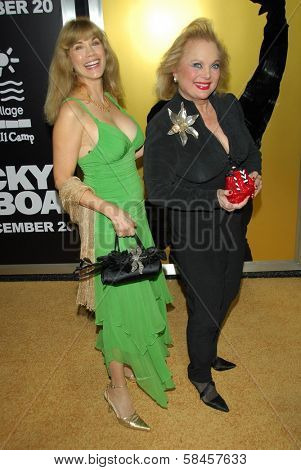 HOLLYWOOD - DECEMBER 13: Barbi Benton and Carol Connors at the world premiere of