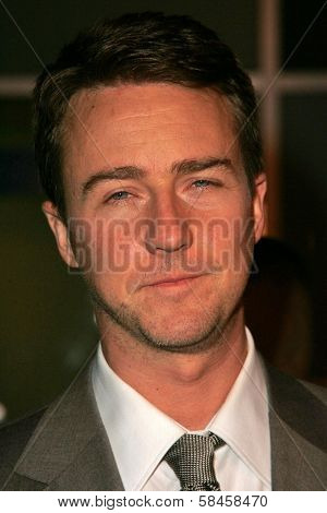HOLLYWOOD - DECEMBER 13: Edward Norton at the Los Angeles Premiere of