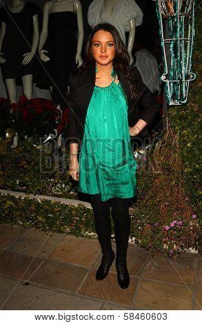 Lindsay Lohan Holiday Window Lighting to benefit the Kanye West Foundation Loop Dreams Program, Stella McCartney Boutique, Los Angeles, CA, December 5, 2006.
