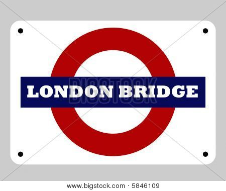 London Bridge Tube Sign