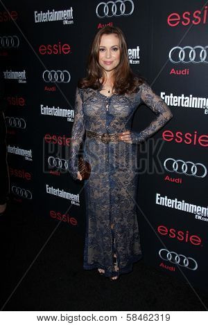 Alyssa Milano at the Entertainment Weekly Pre-SAG Party, Chateau Marmont, West Hollywood, CA 01-26-13
