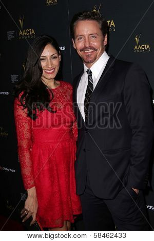 Tehmina Sunny, Charles Mesure at the 2nd AACTA International Awards, Soho House, West Hollywood, CA 01-26-13