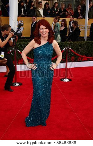 Kate Flannery at the 19th Annual Screen Actors Guild Awards Arrivals, Shrine Auditorium, Los Angeles, CA 01-27-13
