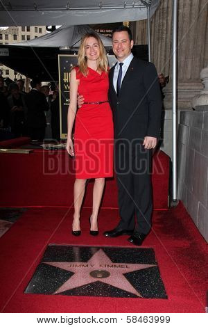 Molly McNearney, Jimmy Kimmel at Jimmy Kimmel's induction into the Hollywood Walk of Fame, Hollywood, CA 01-25-13