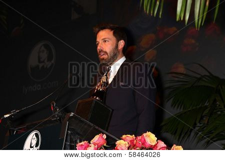 Ben Affleck at the 2013 SBIFF Modern Masters Award presented to Ben Affleck, Arlington Theater, Santa Barbara, CA 01-25-13