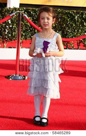 Aubrey Anderson-Emmons at the 19th Annual Screen Actors Guild Awards Arrivals, Shrine Auditorium, Los Angeles, CA 01-27-13