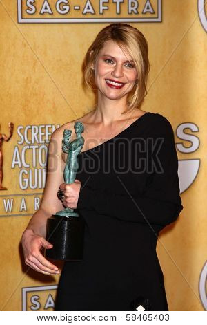 Claire Danes at the 19th Annual Screen Actors Guild Awards Press Room, Shrine Auditorium, Los Angeles, CA 01-27-13