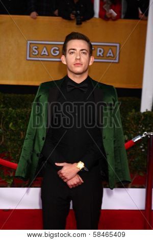 Kevin McHale at the 19th Annual Screen Actors Guild Awards Arrivals, Shrine Auditorium, Los Angeles, CA 01-27-13