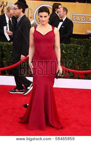 Idina Menzel at the 19th Annual Screen Actors Guild Awards Arrivals, Shrine Auditorium, Los Angeles, CA 01-27-13