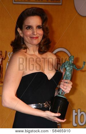 Tina Fey at the 19th Annual Screen Actors Guild Awards Press Room, Shrine Auditorium, Los Angeles, CA 01-27-13