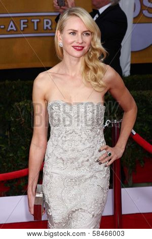 Naomi Watts at the 19th Annual Screen Actors Guild Awards Arrivals, Shrine Auditorium, Los Angeles, CA 01-27-13