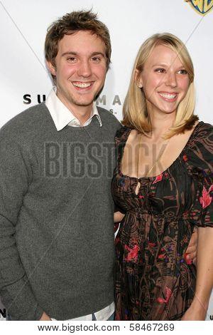 HOLLYWOOD - NOVEMBER 16: Rachel Klein and Sam Huntington at the