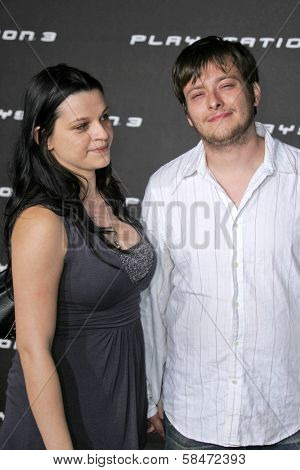 LOS ANGELES - OCTOBER 08: Rachael Bella and Edward Furlong at the Playstation 3 Launch Party October 08, 2006 in 9900 Wilshire Blvd, Beverly Hills, CA.