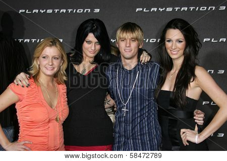 LOS ANGELES - OCTOBER 08: Aaron Carter and friends at the Playstation 3 Launch Party October 08, 2006 in 9900 Wilshire Blvd, Beverly Hills, CA.