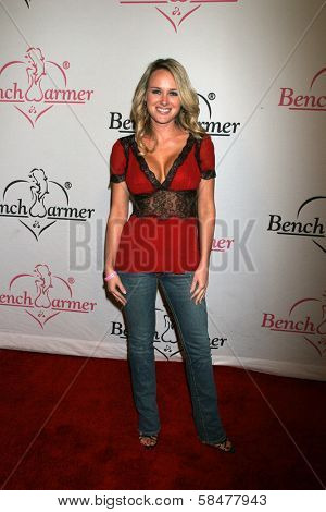 Michelle Baena at the Bench Warmer Trading Card's Holiday Party and Toy Drive. Area, Los Angeles, California. December 20, 2006.