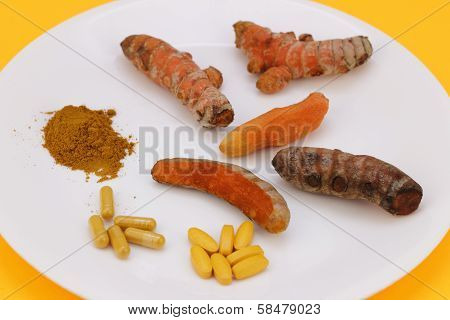 Turmeric In A Variety Of Forms