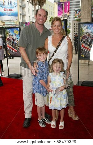 HOLLYWOOD - JULY 30: David Koechner and family at the World Premiere of