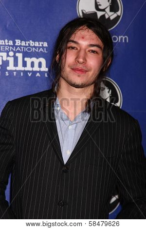 Ezra Miller at the Santa Barbara International Film Festivals 2013 Virtuosos Award, Arlington Theater, Santa Barbara, CA 01-29-13