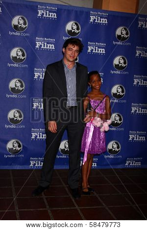 Benh Zeitlin, Quvenzhane Wallis at the Santa Barbara International Film Festivals 2013 Virtuosos Award, Arlington Theater, Santa Barbara, CA 01-29-13
