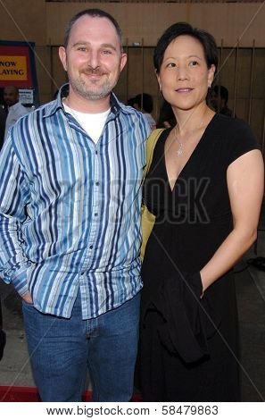 HOLLYWOOD - JULY 19: Andy Milder and guest at the season two premiere of