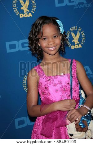 Quvenzhane Wallis at the 65th Annual Directors Guild Of America Awards Arrivals, Dolby Theater, Hollywood, CA 02-02-13
