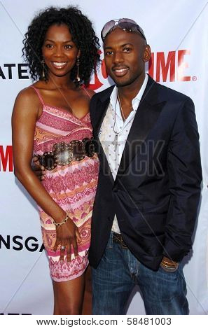 HOLLYWOOD - JULY 19: Vanessa Williams and Romany Malco at the season two premiere of