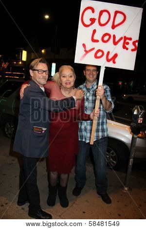 Dennis Christopher, Sally Kirkland at the Opening Night of