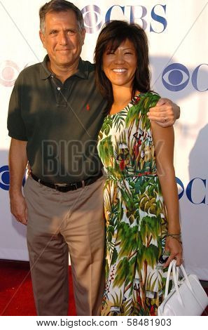 PASADENA - JULY 15: Leslie Moonves and Julie Chen at CBS's TCA Press Tour at The Rose Bowl on July 15, 2006 in Pasadena, CA.