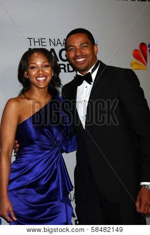 Meagan Good, Laz Alonso at the 44th NAACP Image Awards Press Room, Shrine Auditorium, Los Angeles, CA 02-01-13