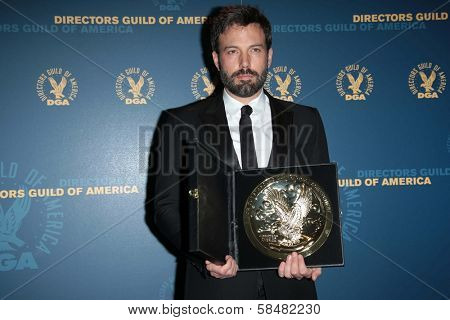 Ben Affleck at the 65th Annual Directors Guild Of America Awards Press Room, Dolby Theater, Hollywood, CA 02-02-13