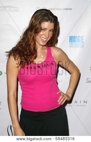 SANTA MONICA - JULY 23: Corinne Saffell at the Sexy Summer Soire Party hosted by H.U.G.E benefiting Heal The Bay at AKWA Restaurant and Club on July 23, 2006 in Santa Monica, CA.