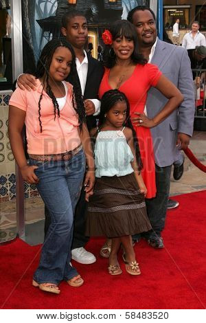 WESTWOOD - JULY 17: Niecy Nash and family at the premiere of